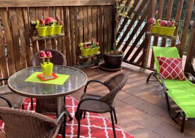Terraza apartamento 11 La Barcena